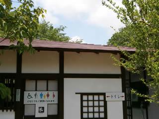 岩本山公園内 公衆トイレ屋根塗装作業 その1